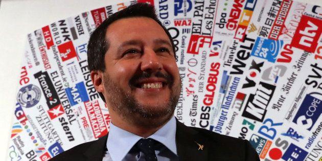 Matteo Salvini, el pasado 10 de diciembre, en una comparecencia en el Club Internacional de Prensa de