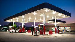 La sorprendente imagen que captó un conductor en una gasolinera de