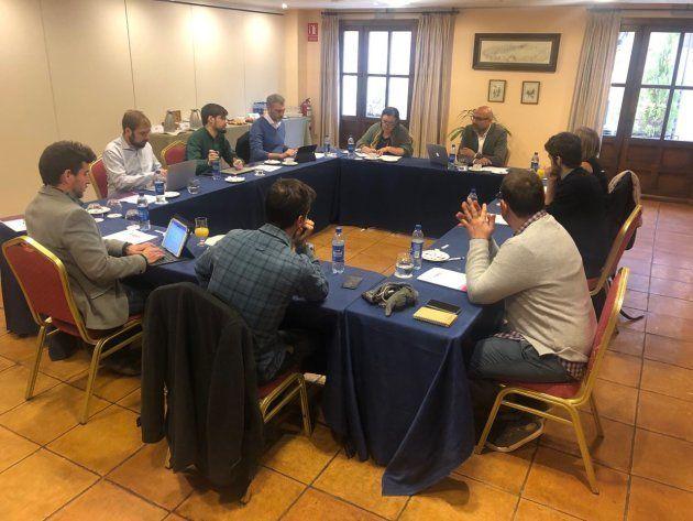 Reunión de los secretarios generales territoriales de Podemos en