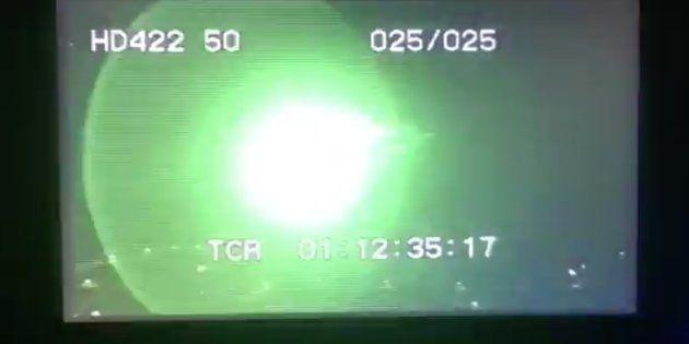 Un puntero láser apuntó a cámaras y fotógrafos en Totalán durante el rescate a