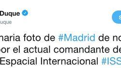 La espectacular foto que ha compartido Pedro Duque de Madrid vista desde el