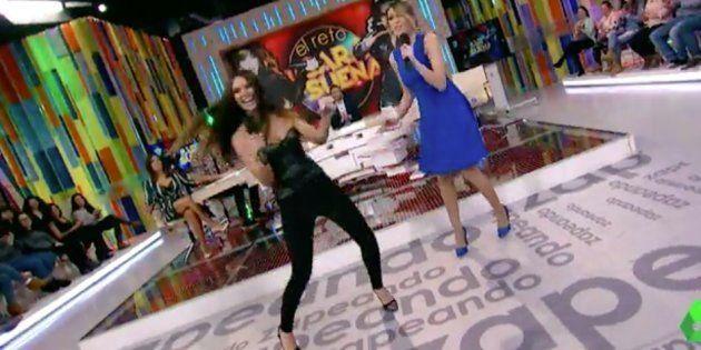 Cristina Pedroche y Anna Simón ensayan su versión de 'Lo Malo' en