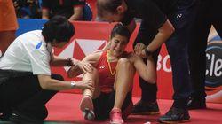 El llanto sin consuelo de Carolina Marín tras lesionarse la rodilla en la final del Masters de