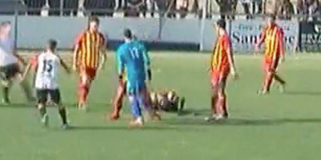 Vergonzosa agresión a un árbitro en la Tercera