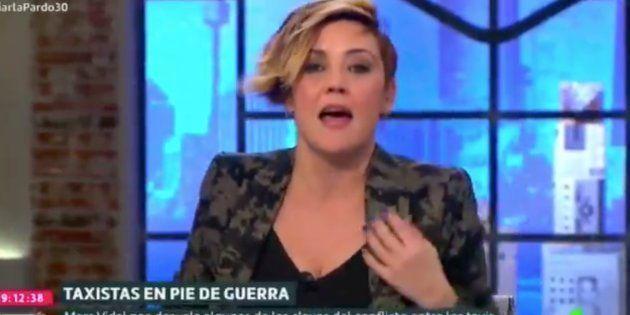 Cristina Pardo sufre un percance en pleno directo en 'Liarla