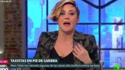 La cara de susto de Cristina Pardo por el percance que ha sufrido en directo en 'Liarla