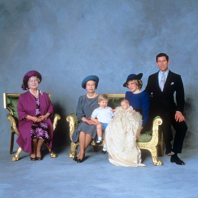 La familia real británica tras el bautizo del príncipe