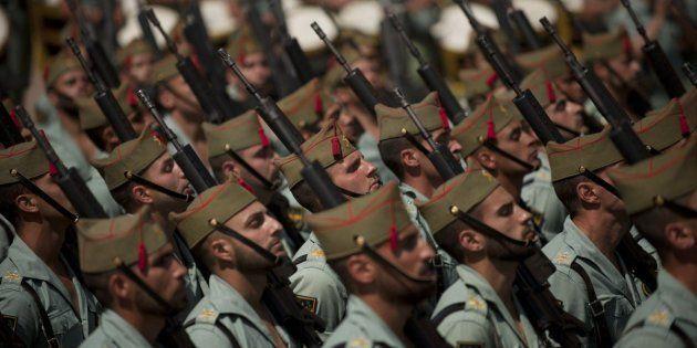 Legionarios españoles, en una imagen de