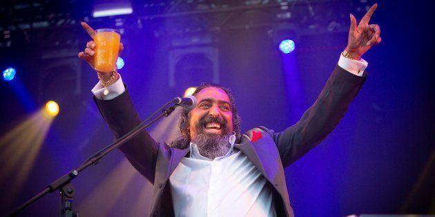 El cantaor Diego El Cigala, durante su actuación en la primera jornada del festival Sonorama Ribera,...