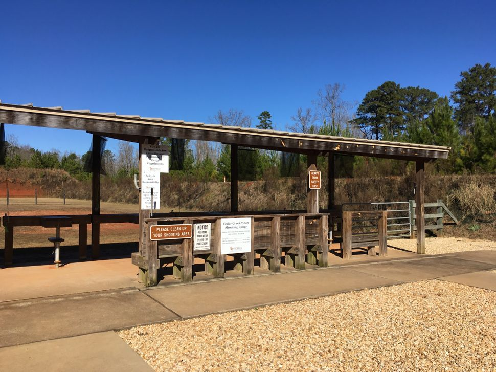 A quiet day at the Cedar Creek Shooting Range, Eatonton, Georgia, in January 2019.