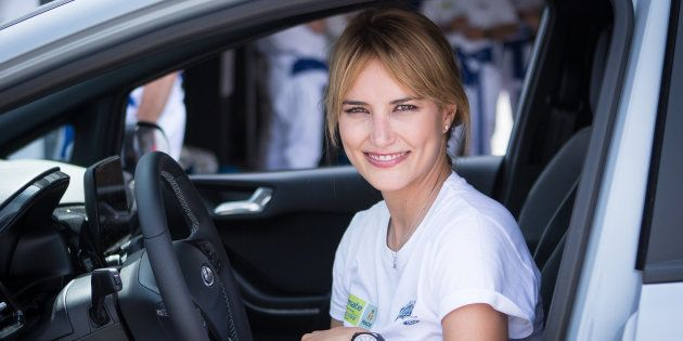 Alba Carrillo en un evento en el circuito del Jarama, en Madrid, el 6 de julio de
