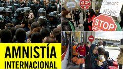 Menos libertades, austeridad asfixiante y escaso asilo: la radiografía-denuncia que Amnistía hace de