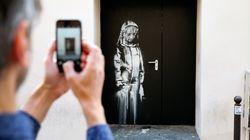 Roban en París un Banksy pintado en una puerta de la sala