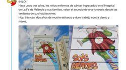 Así es el nuevo mural que los niños de un hospital de Valencia pueden ver desde sus