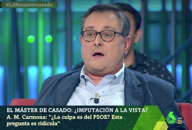 El cabreo de Marhuenda con Hilario Pino en 'LaSexta Noche':