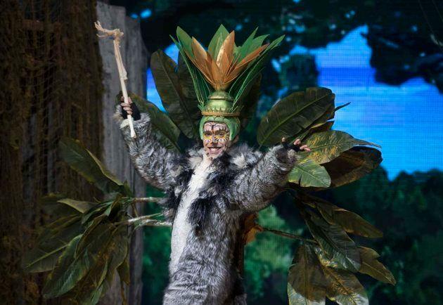Rey Julián de 'Madagascar' cantando