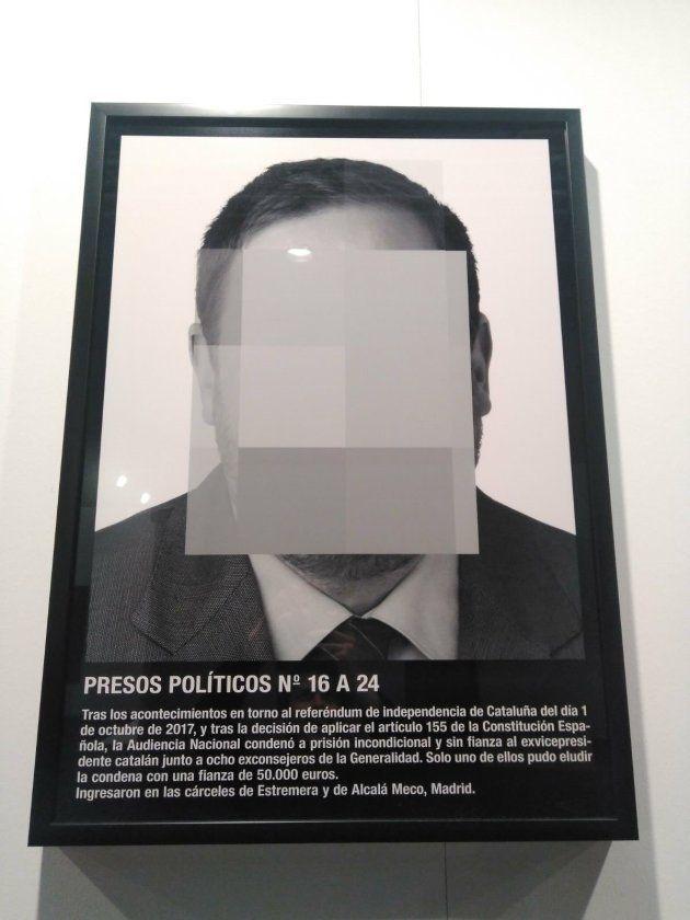 20/02/2018 Montaje 'Presos políticos' ARCO Junqueras. El artista Santiago Sierra lleva a ARCO, que se...