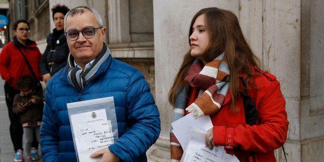 Los periodistas de 'Diario de Mallorca' y Europa Press, el 4 de enero, tras recuperar sus