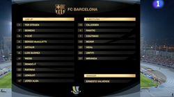 El rótulo de TVE antes del Sevilla-Barça que indigna en redes:
