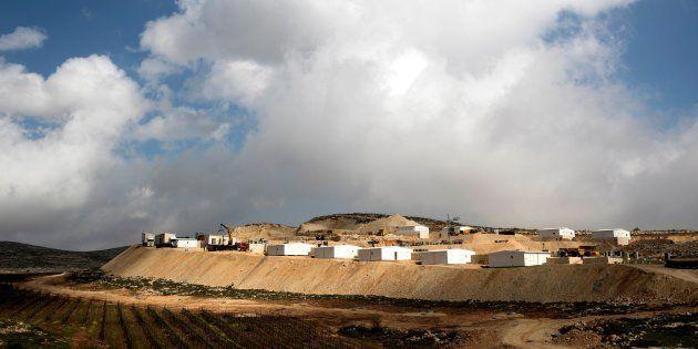 Vista del asentamiento judío Amijai, en