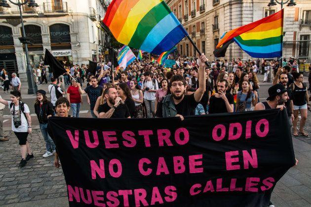 Imagen de archivo de una manifestación contra el odio al colectivo LGTBI en