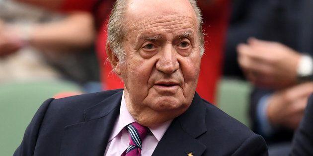 El rey Juan Carlos I, en Wimbledon en