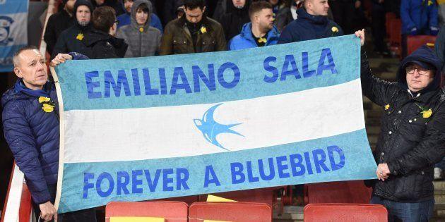Bandera de apoyo a Emiliano