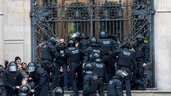 Doce detenidos en la concentración de los Comités de Defensa de la República catalana ante el
