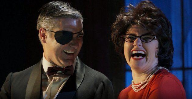 Ernesto Arias y Carmen Becarés en Nekrassov de Jean Paul Sartre en el Teatro