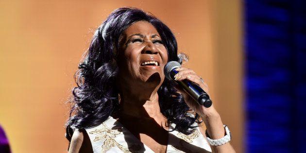 Aretha Franklin, durante una actuación el 19 de abril de