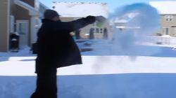 El increíble efecto que causa el frío cuando lanzas agua caliente al
