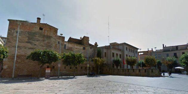 Plaza del Castillo de La Bisbal d'Empordà, en