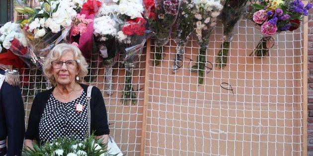 La alcaldesa de Madrid, Manuela Carmena, durante las fiestas de La