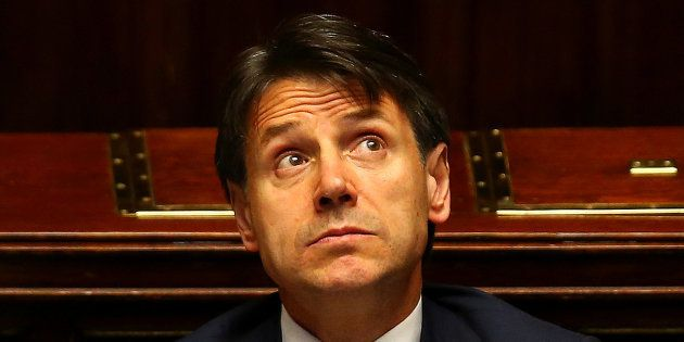 Italian Prime Minister Giuseppe Conte looks on during his first session at the Lower House of the Parliament...