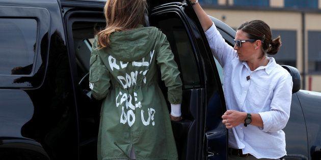 Melania Trump, con una chaqueta que