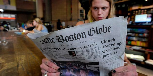 Portada de 'The Boston Globe', que ha promovido la campaña contra