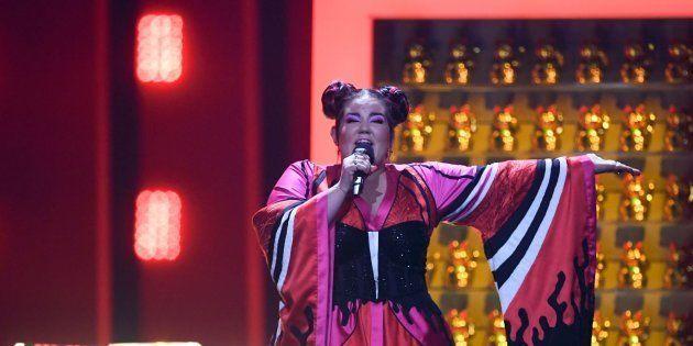 Netta Barzilai, durante su actuación en el festival de Eurovisión