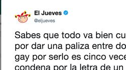 Indignación tras el tuit de 'El Jueves' sobre la sentencia contra dos tipos que apalearon a un