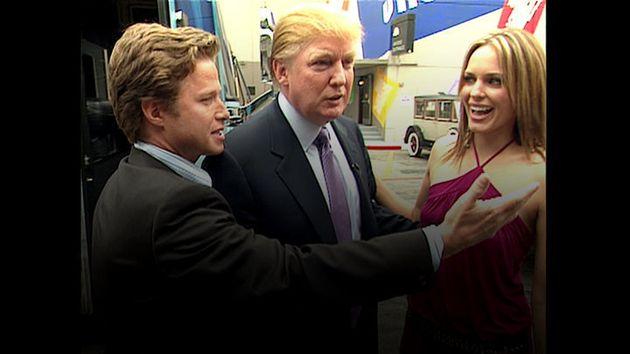 Fotograma de un vídeo que muestra a Trump preparándose para aparecer en la serie 'Days of our Lives'....