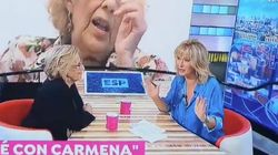 La cara de Susanna Griso por lo que ha pasado en plena entrevista con Manuela Carmena en 'Espejo