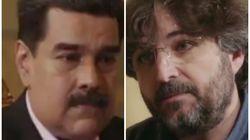 La cara de Maduro tras la primera pregunta de Jordi Évole en