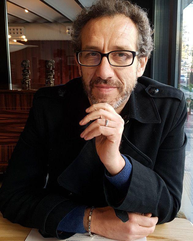 El escritor Ricardo Menéndez Salmón, en enero de 2018. /Fotografía de