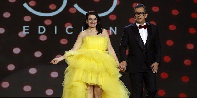 Silvia Abril y Andreu Buenafuente en la gala de los Goya