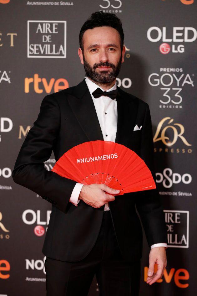 El abanico rojo 'Ni una menos' se cuela en los Goya 2019 para pedir el fin de la violencia
