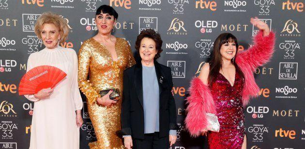 Marisa Paredes, Rossy de Palma, Julieta Serrano y Loles