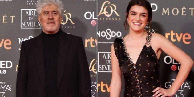 Pedro Almodóvar y Amaia Romero, en los