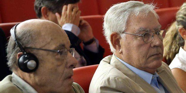 El expresidente del Palau de la Música Félix Millet y el exdirector administrativo del Palau de la Música...