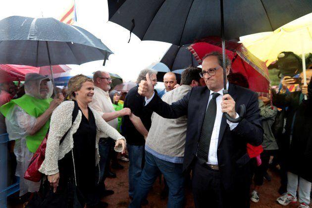 El presidente de la Generalitat, Quim Torra, en el
