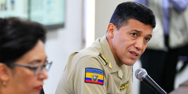 El director nacional de Antinarcóticos de la Policía, el general Carlos Alulema, comparece en Quito