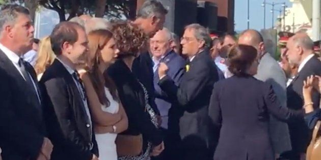 VÍDEO: Encontronazo entre Quim Torra y Xavier García Albiol en el homenaje de